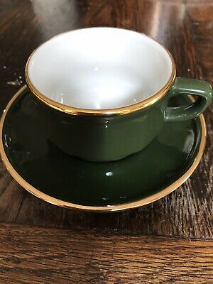 £8 • Buy French Apilco Medium Bistro Coffee Cup And Saucer  - Yves Deshoulieres