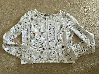 AU5.52 • Buy Urban Outfitters Light Before Dark White White Mesh/ Lace Style Top-sz M  10-12
