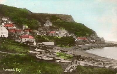 £10 • Buy Real Photographic Postcard Of Runswick Bay, (near Staithes), North Yorkshire