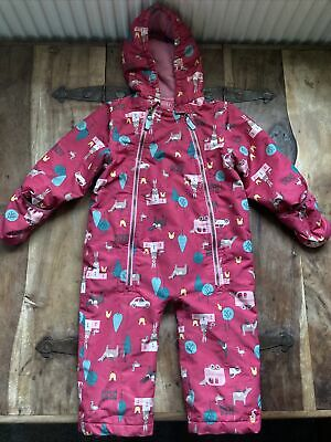 £15 • Buy Joules Waterproof Lined PuddleSuit Pram Suit Pink Girls 18-24 Months. 1-5/2 Yrs