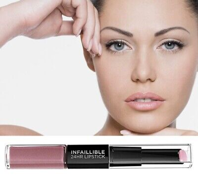£4.99 • Buy L'Oreal Pink Lipstick Infallible 24 HR 2 Step Lipstick 125 Born To Blush New