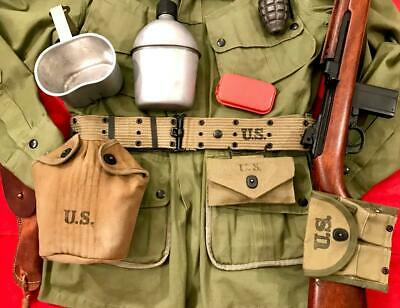 """$249 • Buy Wwii M1936 Pistol Belt (7 Piece Set) """"all 1942-1944"""" """"great Condition"""""""