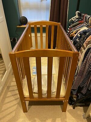 £40 • Buy Used Little Babes Tobie Space Saver DROPSIDE Cot-Antique Pine.