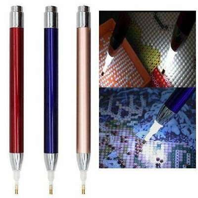 AU9.99 • Buy LED Diamond Painting Dot Drill Pen Cross Stitch DIY Tool Embroidery Accessories