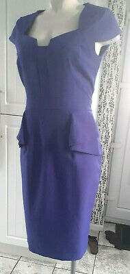£15 • Buy Ladies  Dorothy Perkins  Purple Fitted Peplum Style Dress (Size 14 )