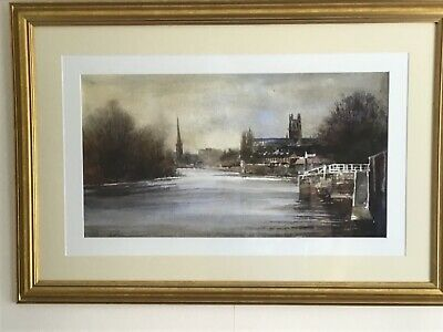 £95 • Buy Framed Watercolour Print Of Worcester Cathedral