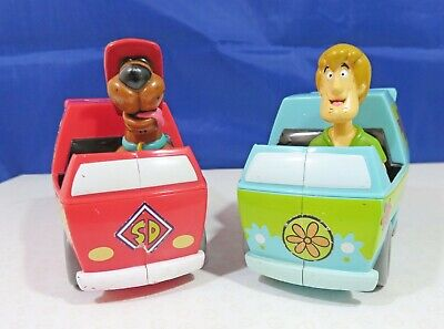£9.99 • Buy Scooby Doo Fire Dept & Shaggy In Mystery Machine Set Of 2 Character Toy Vehicles