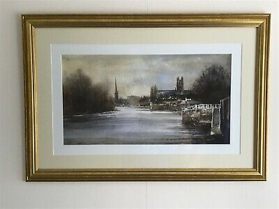 £95 • Buy Watercolour Print Of Worcester Cathedral