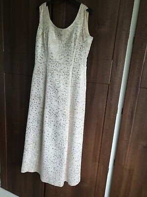 £50 • Buy Vintage Carnegie Of London 1950/60s Ball Gown Gold And Cream Daisys