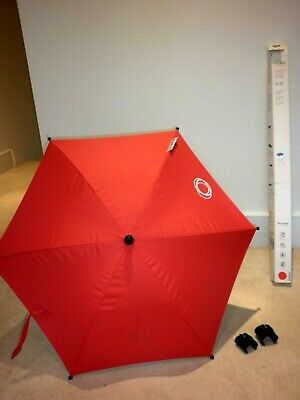 £25 • Buy Bugaboo Bright Red Sun Parasol & Clips-Brand New-Never Used-Still Boxed