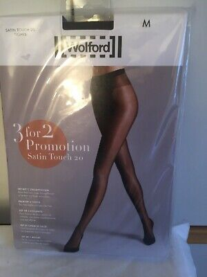 £8 • Buy Wolford Satin Touch 20 Tights  3 For 2 Promotion Pack In Medium Nearly Black/