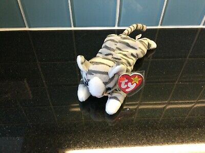 £4.95 • Buy Ty Beanie Babies Prance Grey Tabby Cat Soft Toy Exc Cond Present Gift Child