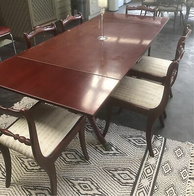 AU440 • Buy Vintage Extendable Polished Wood Dining Table And Six Chairs