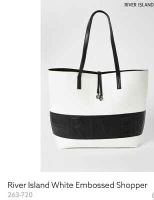 £35 • Buy River Island White And Black Embossed Tote Bag £@&