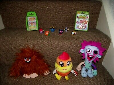 £9.99 • Buy Moshi Monsters Bundle Figures, Soft Toys (Furi, Coolio & Zommer) Top Trumps, Pit
