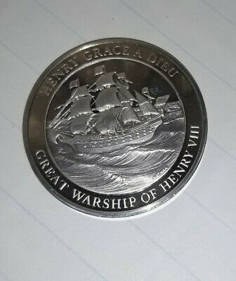 £2.76 • Buy Stirling Silver Proof Coin Medallion John Pinches London 38gm Maritime History