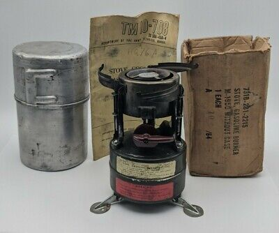 $49.99 • Buy Vintage Rogers M1950 US Army Gas Field Stove Original Box Dated Oct 1964 W/ Box
