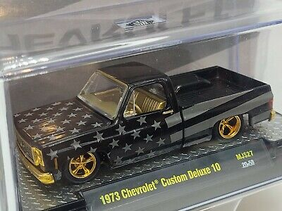 $64.10 • Buy M2 Machines 1973 Chevrolet Custom Deluxe 10 Blacked Out Flag Chase Square Body