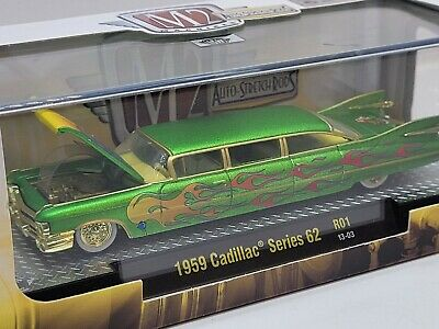 $33 • Buy M2 Machines Auto Stretch Rods 1959 Cadillac Series 62 Chase Tiki Cadillac