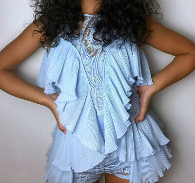 """AU80 • Buy Alice McCall Size 4 """"You're So Young"""" Blue Playsuit Once Worn RRP $420"""