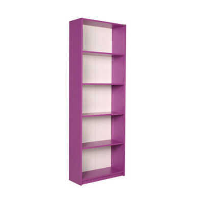 £34.99 • Buy Purple Shelving Unit Display Storage Bookcase Large & Tall Living Room Furniture