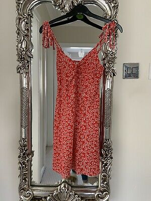 £7 • Buy Topshop Cute Ditsy Floral Red Dress Size 8 Petites