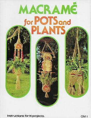 $11.50 • Buy Macrame For Pots And Plants By Betty Seymour Plant Hangers Owl Pattern Book