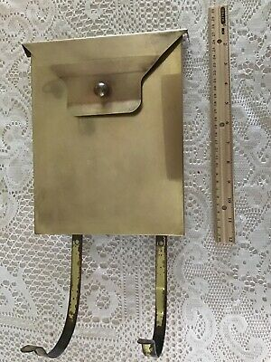 $22.99 • Buy VINTAGE SOLID BRASS MAILBOX 17  L X 6-1/4  W FLAP AND REMOVE-ABLE PAPER HOLDER