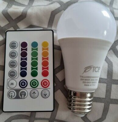 £0.99 • Buy TCP Smart LED Colour Changing Bulb With Remote Control - ES27