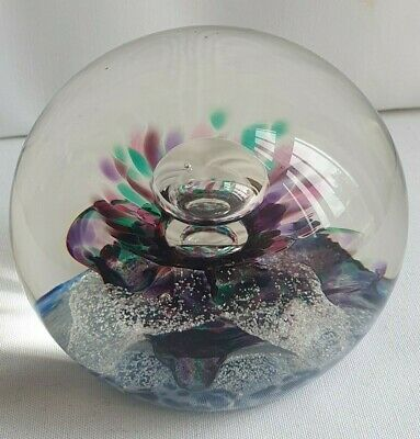 £38 • Buy Selkirk Glass Scottish Paperweight 'Calypso' Ltd EDT No 158/500 Date 1986 Signed