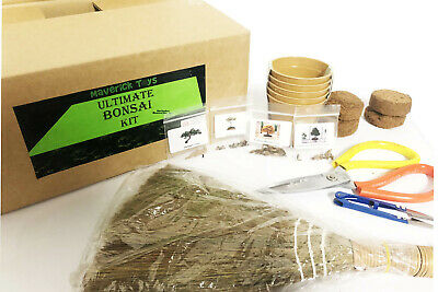 £8.99 • Buy Ultimate Bonsai Tree Growing Kit - Starter And Deluxe Growing Pack + Seeds Tools