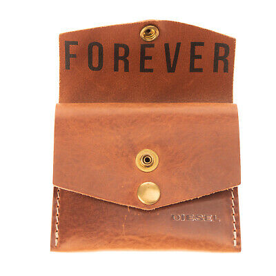 $ CDN18.86 • Buy DIESEL  WHAT-&-FOR-EVER  FOREVER Leather Mini Wallet Card Holder Made In Italy
