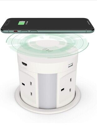 £85 • Buy Automatic Pop Up Socket For Kitchen Worktops, Surge Protector, Retractable Power