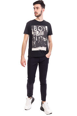 £10.99 • Buy BOY LONDON T-Shirt Top  Size S Coated Photo Front Short Sleeve Crew Neck
