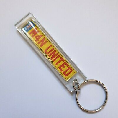£4 • Buy Personalised Manchester United Numberplate  Keyring Custom Gifts Name Added