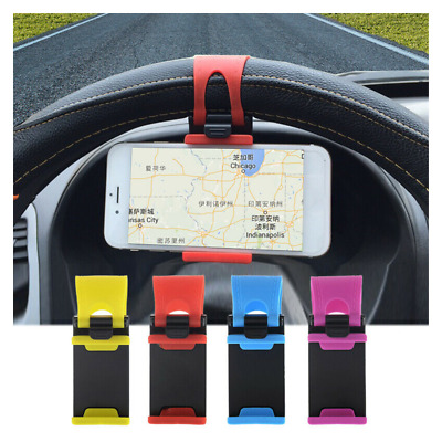 $1.10 • Buy 1× Car Interior GPS Phone Holder Mount Stand Steering Wheel Clip Accessories