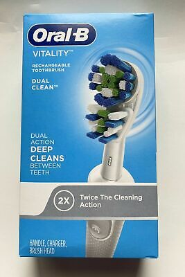 AU39.41 • Buy Oral-B Vitality Dual Action Rechargeable Battery Electric Toothbrush New