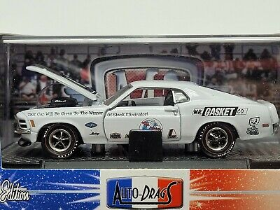 $18.50 • Buy M2 Machines Auto Drags 1970 Ford Mustang White Chase Piece