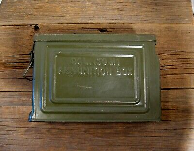 $34.99 • Buy Vintage U.S.  WWII Metal CROWN .30 Cal. M1 Ammo Ammunition Can Box Flaming Bomb
