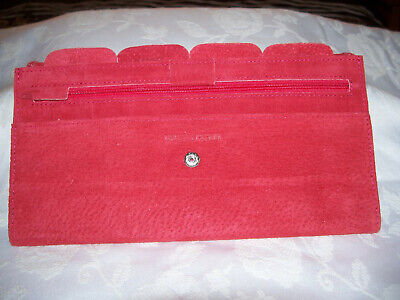 AU8 • Buy Red Suede Travel Wallet . New.