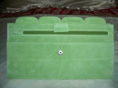 AU8 • Buy Green Suede Travel Wallet . New.