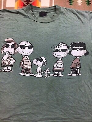 £11.91 • Buy Vtg The Charlie Brown And Snoppy Show Characters Changes Tshirt USA Made Size L