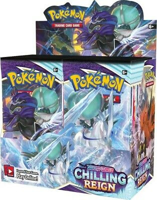 AU180 • Buy Pokemon TCG Chilling Reign Booster Box SEALED