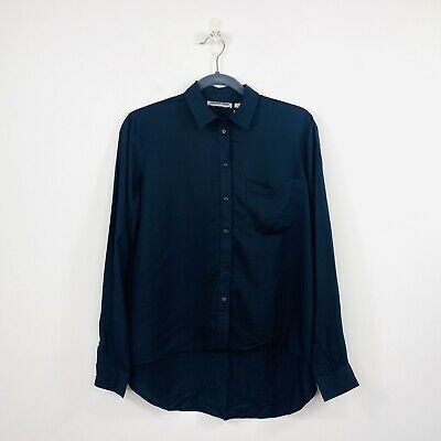 AU45 • Buy Country Road Womens Modal Shirt Black Relaxed Fit Size XS Or 8 NWT RRP $99.95