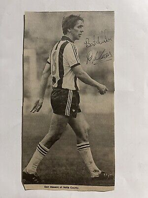 £4.99 • Buy Don Masson- Notts County Signed Picture