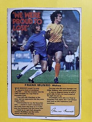 £4.99 • Buy Frank Munro- Wolves Footballer Signed Picture