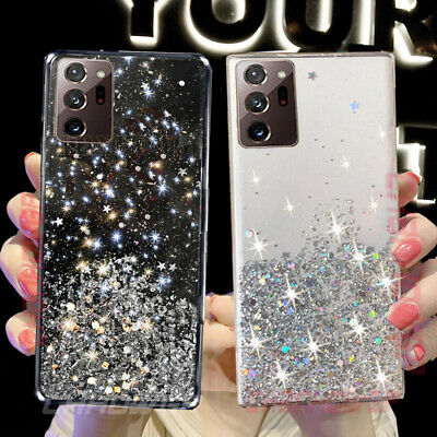 $ CDN4.01 • Buy Glitter Bling Soft Clear Case Cover For Samsung Galaxy Note 20 Ultra 10 Plus 9 8