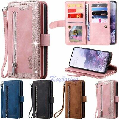 $ CDN16.89 • Buy 9 Card Slot Wallet Leather Case Cover For Samsung Galaxy S21 S20 S10 S9 S8 Plus