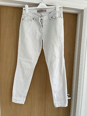£3 • Buy Ladies Next White Relaxed Skinny Jeans Size 8R