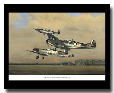 £10 • Buy Supermarine Spitfire I Fighters RAF Hornchurch Framed Picture Brian Withams
